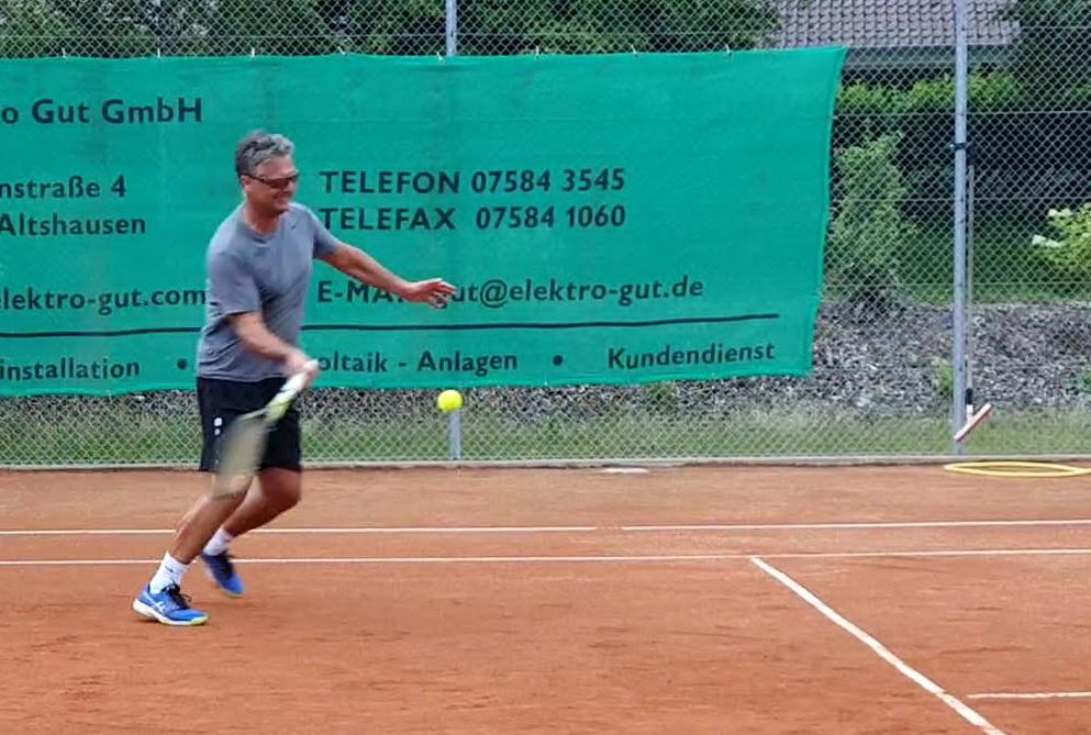 Ralf Hauser beim Einzel
