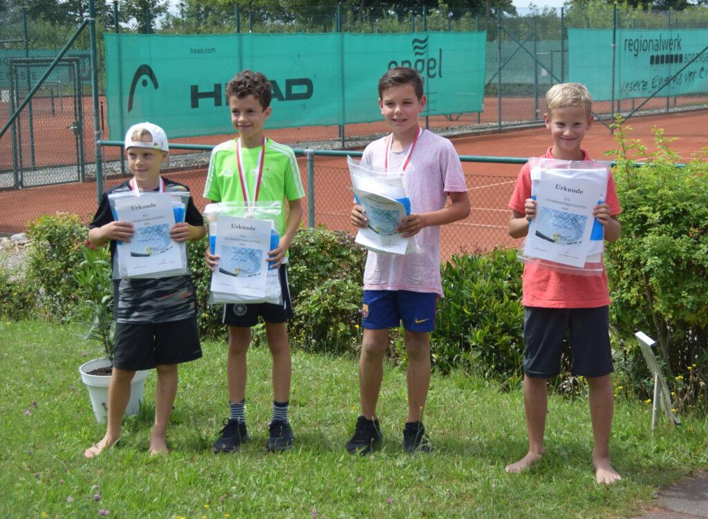 U12 Junioren: Matheo Florian, Felix Boes, Joshua Knaus, Jonas Beck