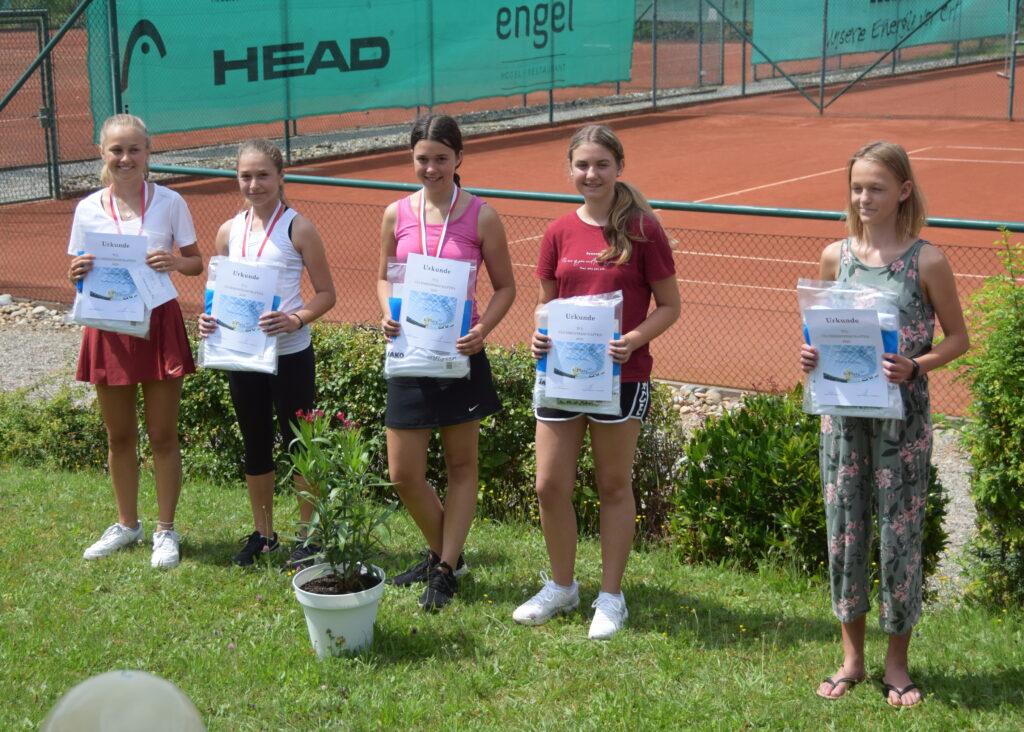 U18 Juniorinnen: Katharina Engelhardt, Rosa Lombardo, Lea Boes, Marina Buck, Marie Deprez